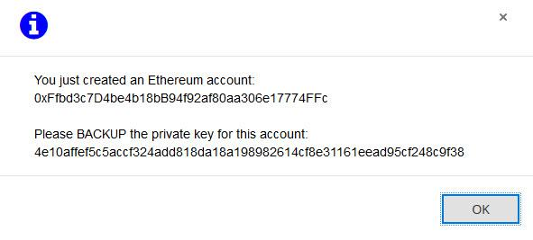 New Etherdelta account created