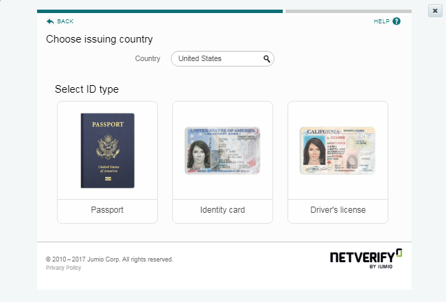 Verify your ID panel