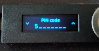 Nano Ledger S Pin code