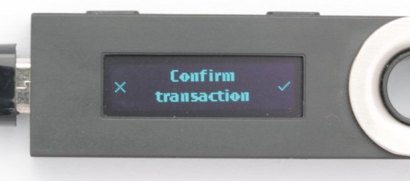 Nano Ledger S Confirm Transaction
