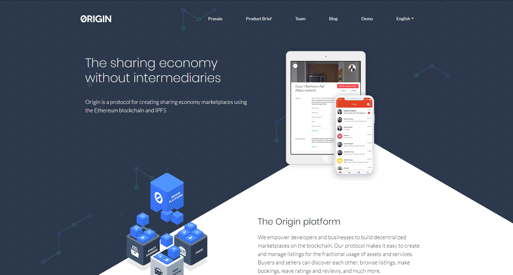 Origin Protocol Website