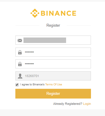 Binance Account Details