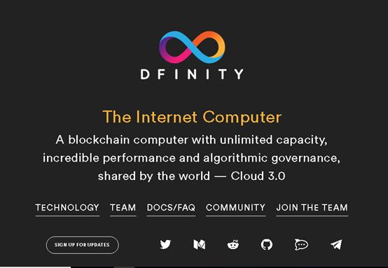 Dfinity Website