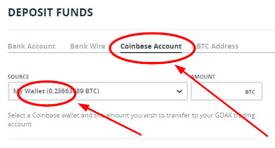 Gdax Coinbase Account