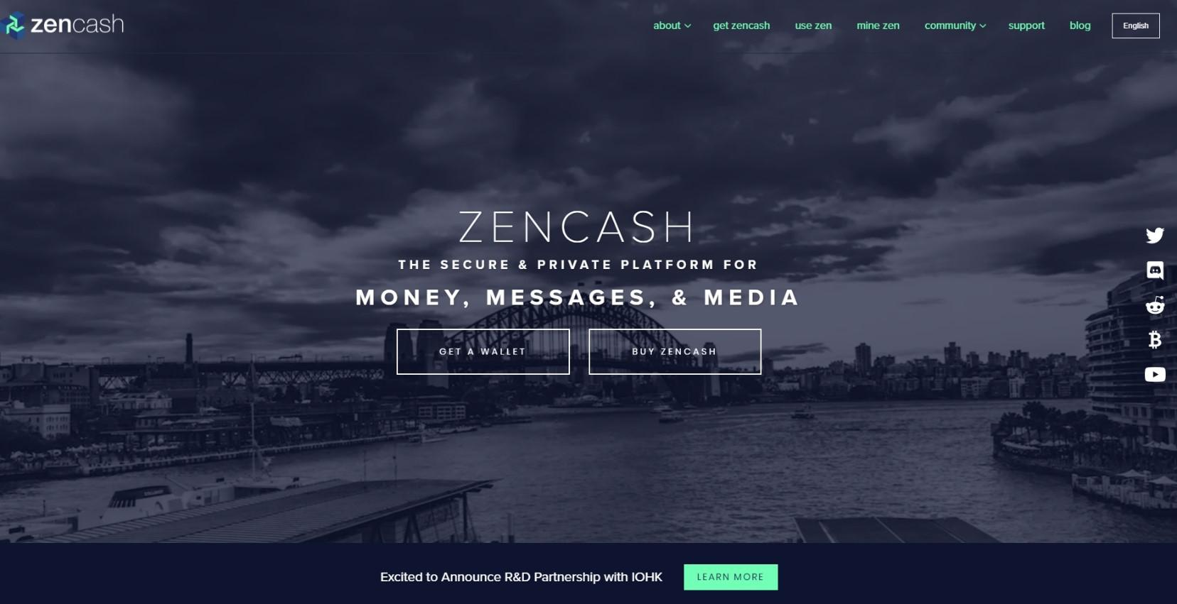 Zencash Website