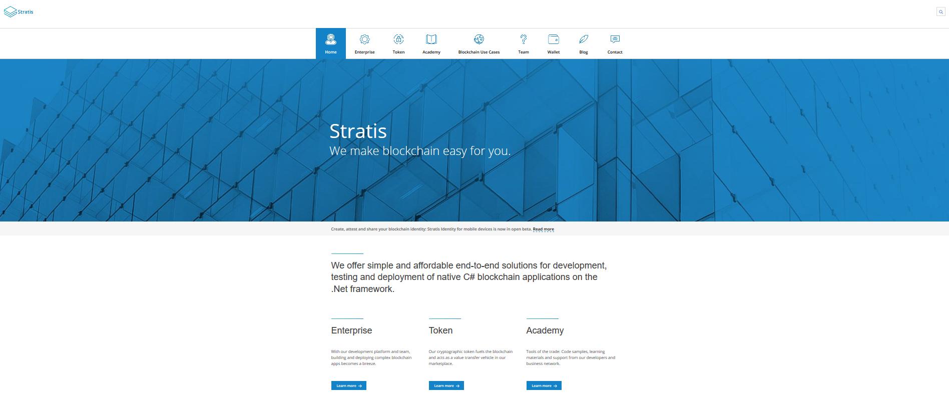 Stratis Website