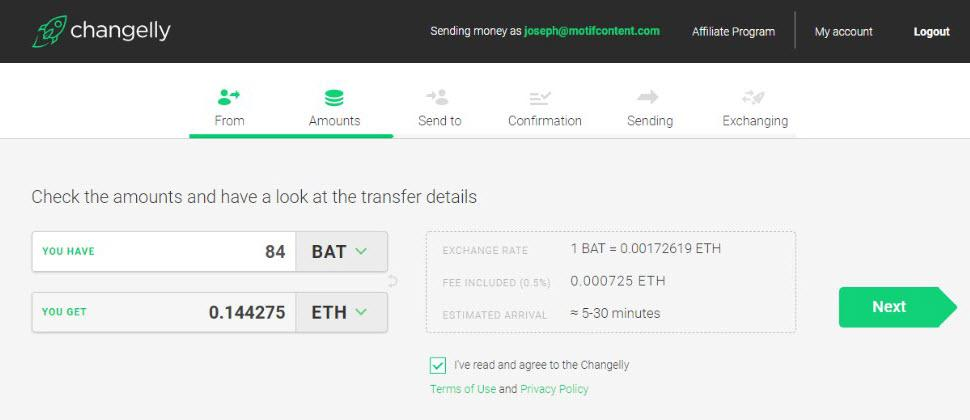 Changelly Funding Options