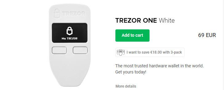 Trezor One Product Page