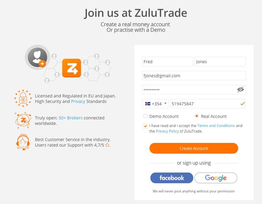 social trading platform ZuluTrade